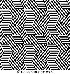 padrão, linha, pretas, branca, ziguezague
