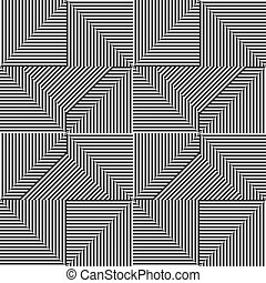 padrão, linha, triangulo, branca, pretas