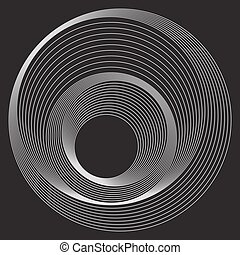 padrão, linhas, círculos