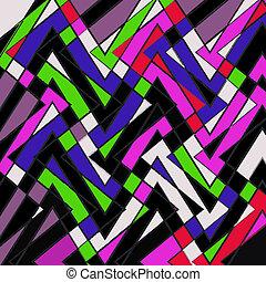 padrão, listras, multicolored
