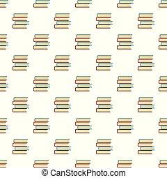 padrão, livro, seamless, estudante