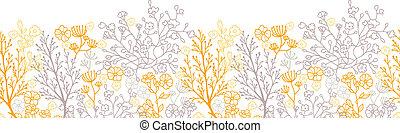 padrão, mágico, seamless, fundo, floral, horizontais