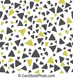 padrão, mão, triangulo, seamless, desenhado