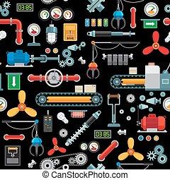 padrão, maquinaria industrial, seamless