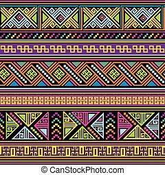 padrão, mexicano, seamless