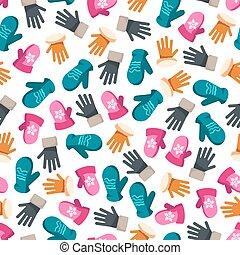 padrão, mittens, seamless, coloridos, inverno