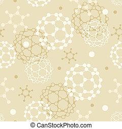 padrão, moléculas, seamless, fundo