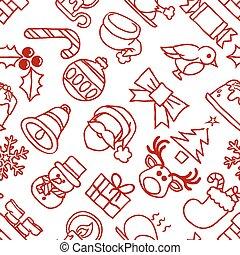 padrão, natal, fundo, seamless