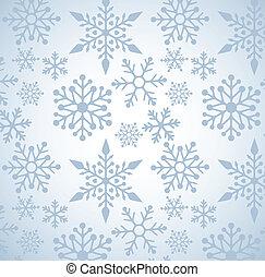 padrão, natal, fundo, snowflakes