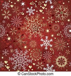 padrão, natal, vermelho, seamless