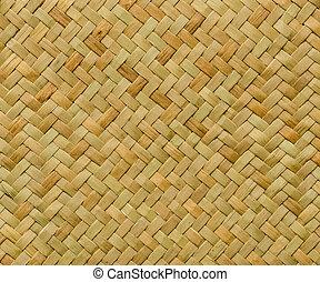 padrão, natureza, fundo, de, artesanato, tecer, textura,...