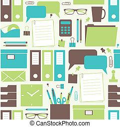 padrão, objetos, escritório