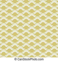 padrão, ondas, seamless, japoneses