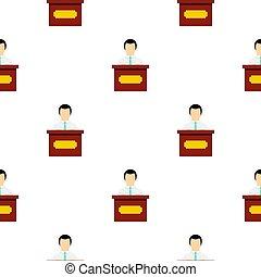 padrão, orador, público, apartamento