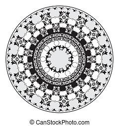 padrão, oriental, 06, ornamentos