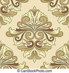 padrão, ornamento, clássicas