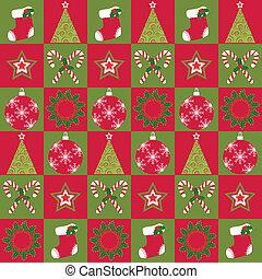 padrão, ornamento, natal, seamless