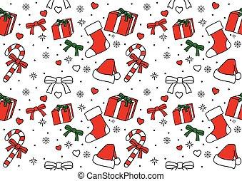 padrão, ornamento, seamless, natal