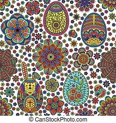 Padrão, ovos, Páscoa,  seamless