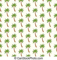 padrão, palma, fundo, árvores