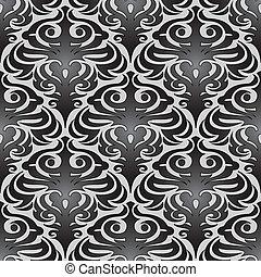 padrão, papel parede, pretas, seamless