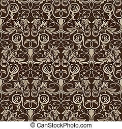 padrão, papel parede, seamless, marrom
