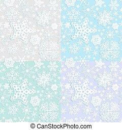 padrão, papel, seamless, inverno