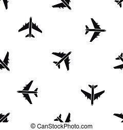 padrão, passageiro, pretas, seamless, airliner