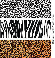 padrão, pele animal