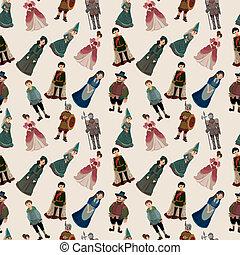 padrão, pessoas, seamless, medieval