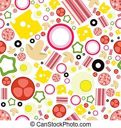 padrão, pizza, seamless, ingredientes