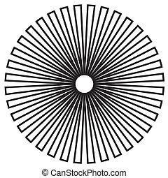 &, padrão, pretas, desenho, círculo, branca