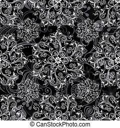 padrão, pretas, seamless
