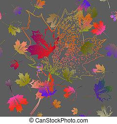 padrão, queda, leaves., maple, seamless