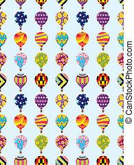padrão, quentes, seamless, balloon, ar