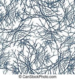 padrão, ramos, seamless, textura