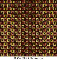 padrão redemoinho, quadrado, retro