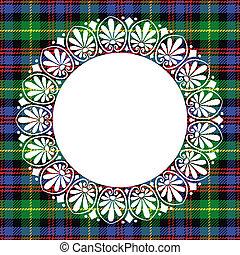 padrão, relógio, seamless, vetorial, pretas, escocês, tartan