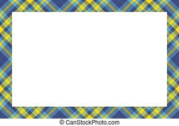 padrão, retro, style., borda, vindima, ornament., quadro, tartan, xadrez, escocês, vector.