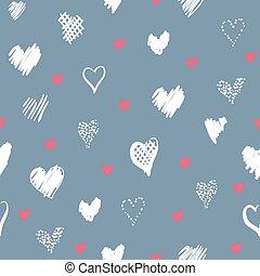 Padrão, romanticos, corações