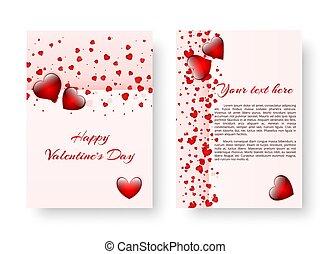 padrão, romanticos, vermelho, corações