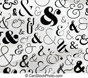 padrão, símbolo, ampersand