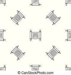 padrão, scroll, vetorial, seamless, torah