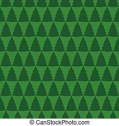 padrão, seamless, árvores, pinho