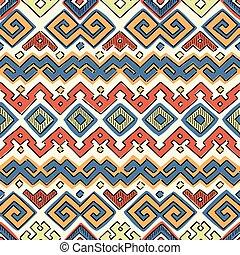 padrão, seamless, étnico