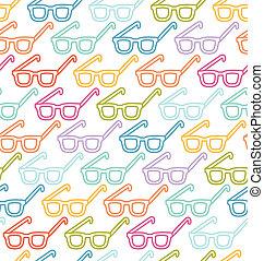 padrão, seamless, óculos