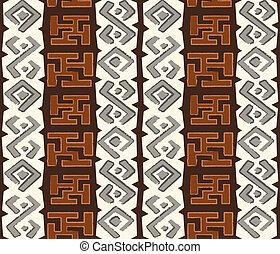 padrão, seamless, africano