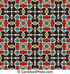 padrão, seamless, arabesco