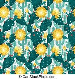 padrão, seamless, cactuses