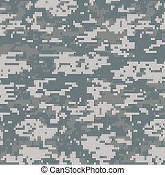 padrão, seamless, camuflagem, digital